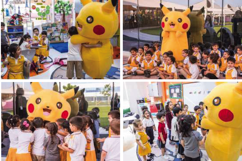 Pikatchu Visits KG Students and Book Fair Visitors