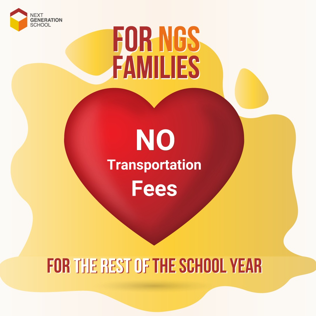 NGS is one of 4 Schools in Dubai to offer 20% Discount for parents  & Waives Transportation Fees