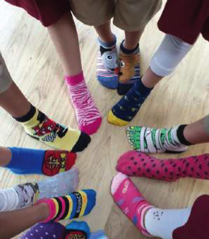 Grade 1 Learn Adjectives on Funky Socks Day