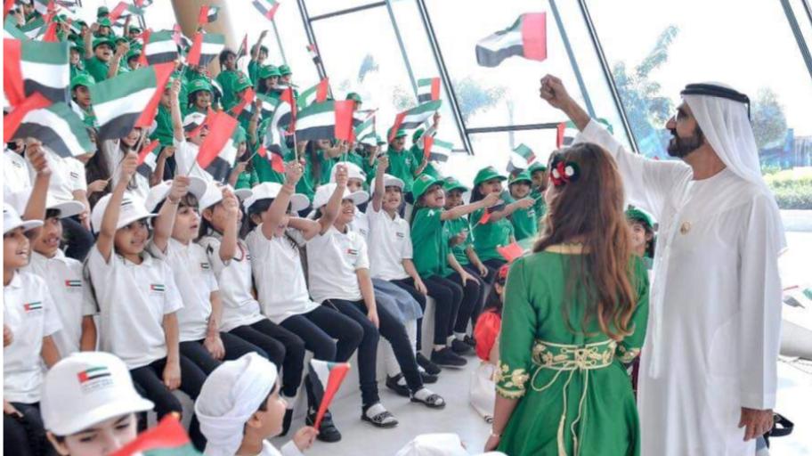 اختيار طلاب نكست جينيريشن للاحتفال بيوم العلم مع الشيخ محمد بن راشد