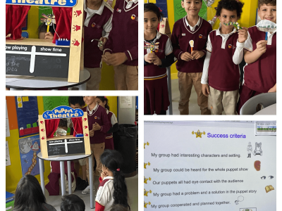 Grade 1 Performs a Creative Life Cycle Puppet Show During Science