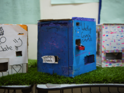 Grade 4 Engineers build their own Doll Houses with Lights Heaters Doorbells and fans