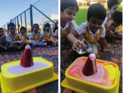 KG 2 Students Are Making Volcanoes