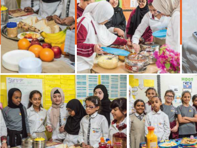 Grade 6 Girls Invited Staff and Students to Try Food Inspired by a Novel