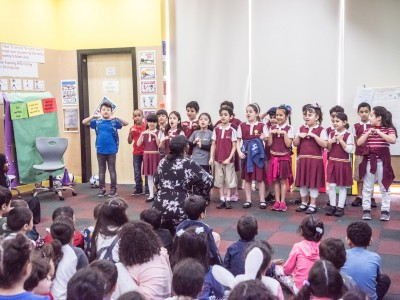 Grade 2 Students Present their PBL to KG Students
